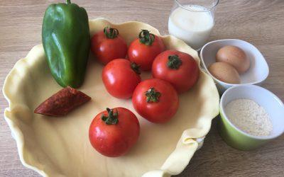 Tarte tomates poivron et chorizo