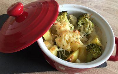 Gratin de chou-fleur et brocoli à la cancoillotte