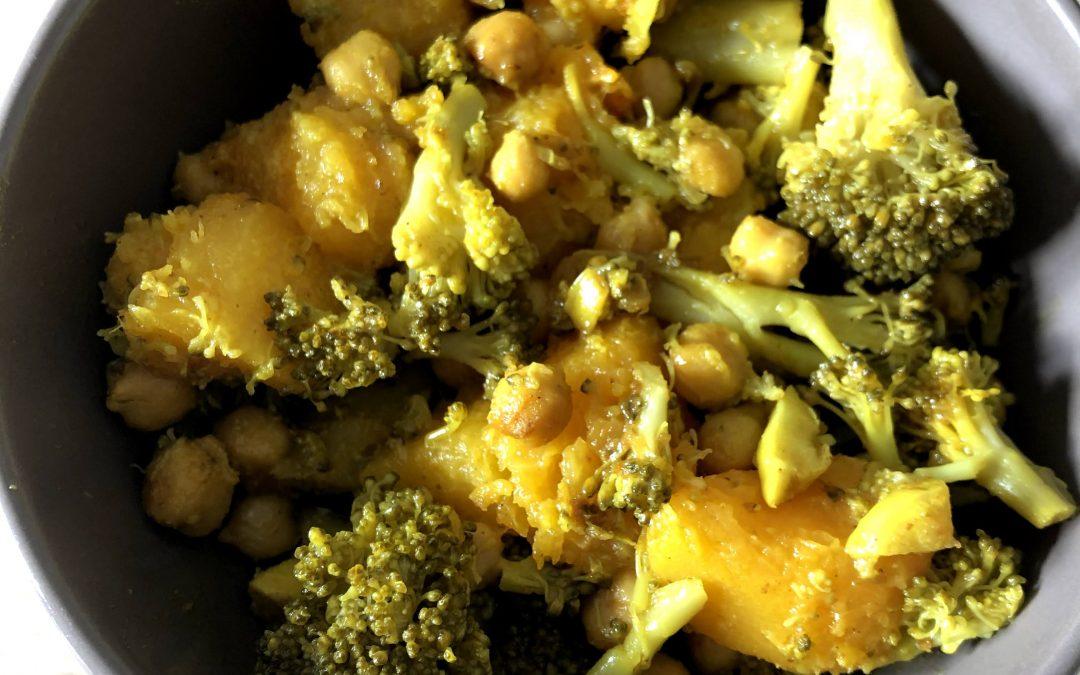 Poêlée de butternut et brocoli aux pois chiches