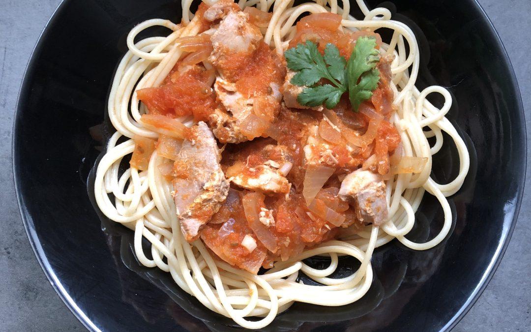 Spaghettis thon & tomates